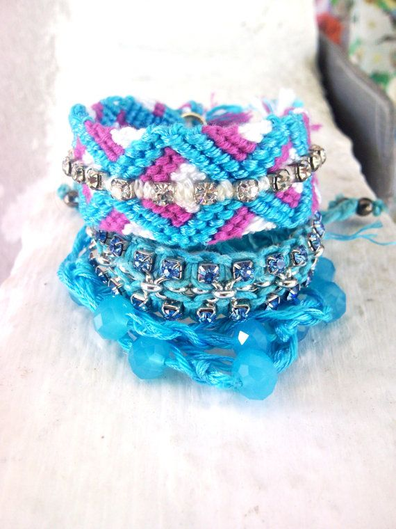 three fashionable gypsy look macrame bracelet  by INTIMEHANDMADE, Nicol michael by Georgia Kanellopoulou €39.00