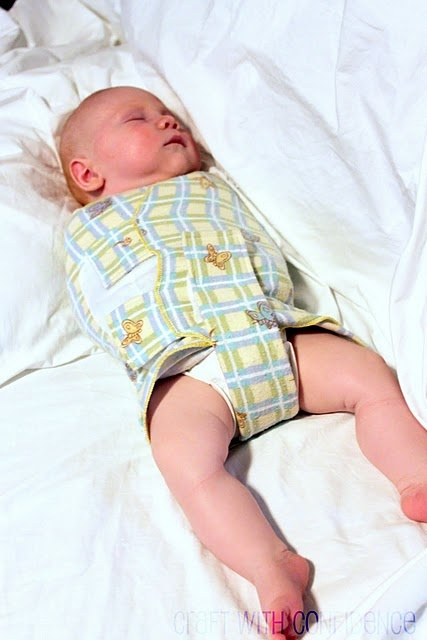 Infant Swaddler with leg cut outs. i love this version! since there are lots of studies how a regular swaddle messes with the growth of the lower extremeties.