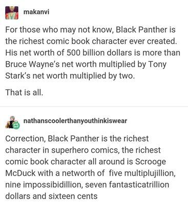 This is the only headcanon that I will accept against T'challa