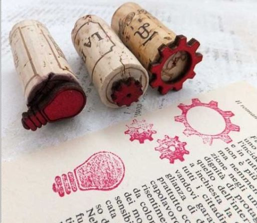 Make Your Own Stamps | Laura Helwig || Tip: Make Stamps from Wood Embellishments ***Link to pinterest board ***