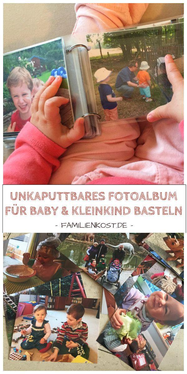 Unkaputtbares Fotoalbum für Baby und Kleinkind basteln