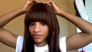 full head weave bangs - Google Search