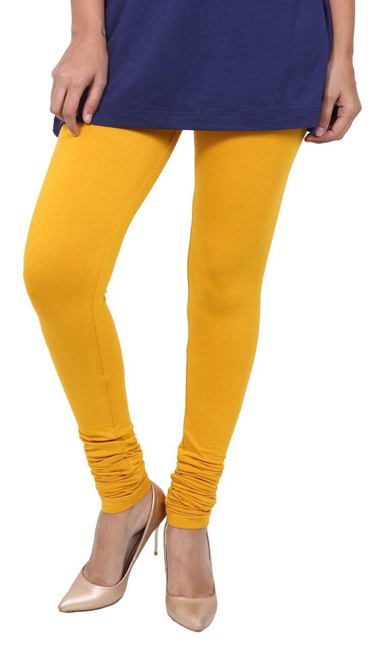 De Moza Ladies Leggings Chudidhar Viscose Lycra Mustard  #legging #jegging #cybermonday #shimmerlegging #pants #fashion #fashionbloggers #tops #deals #fashionlegging