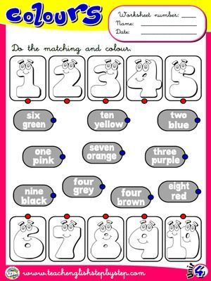 Colours - Worksheet 4                                                                                                                                                                                 Más