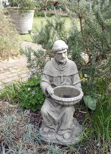 St Francis Of Assisi Bird Feeder   The Patron Saint Of Animals! Great For  The