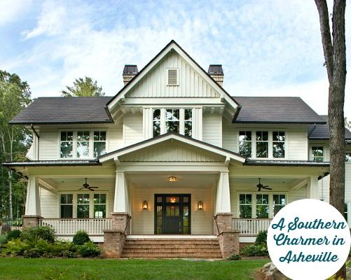 A New Family Home Built with Old Southern Charm in Asheville NC | hookedonhouses.net