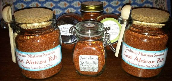 East African Rift This spice is the main ingredient in our signature sauce by the same name. It is a combination of 11 different spices, some