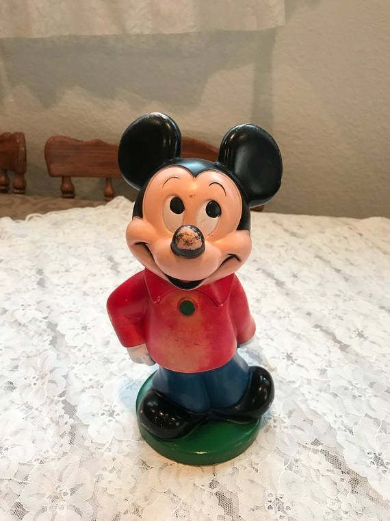 Excited to share the latest addition to my #etsy shop: 1970 Mickey Mouse Bank http://etsy.me/2FhgeOS #vintage #collectibles #red #birthday #christmas #blue #mickeymouse #bank #figurine