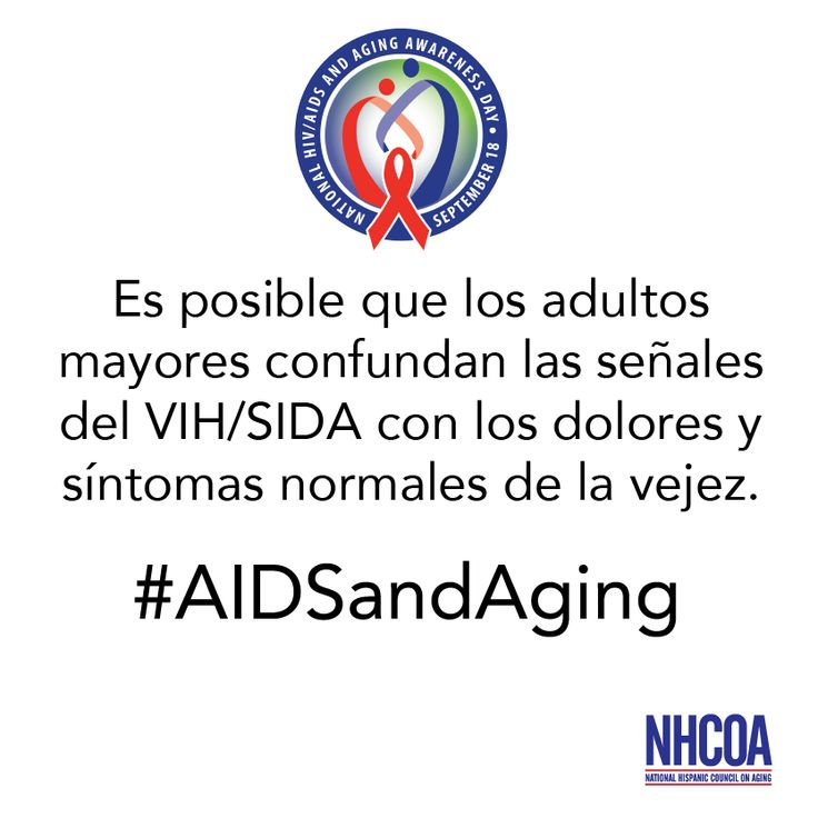 Es posible que los adultos mayores confundan las señales del VIH/SIDA con los dolores y síntomas normales de la vejez. #AIDSandAging