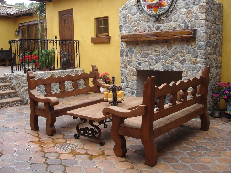 46 best mexican spanish patio ideas images on pinterest for Mexican porch designs