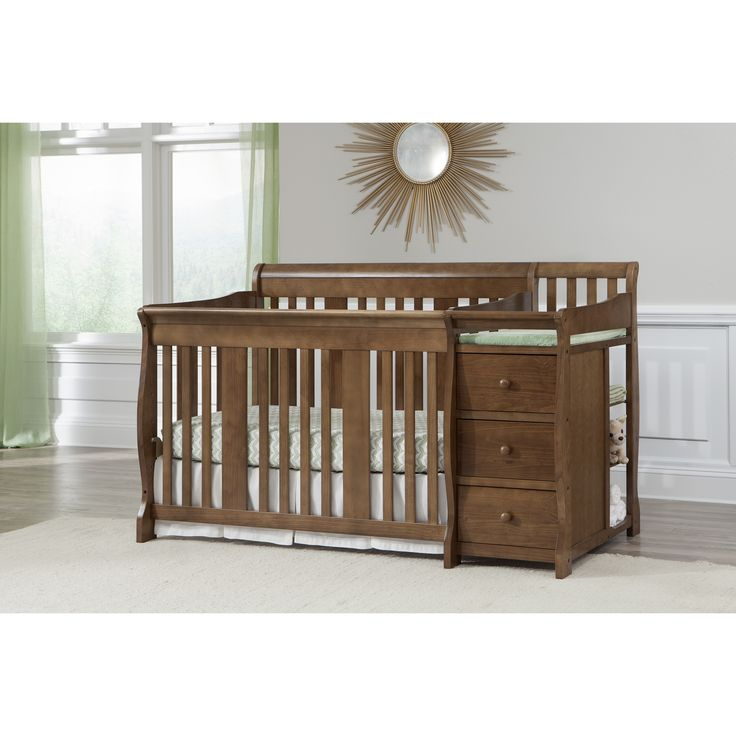 espresso convertible table mist in cribs from luxury chocolate gray changer wood crib changing pad canada made baby combo with and