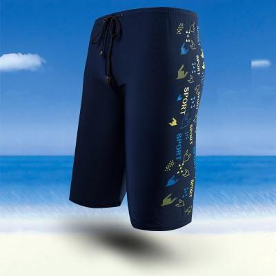 2017 Summer Men Swim Trunks Print Swimming Trunks Boys Slim Man Bathing Suit Long Board Shorts Male Elastic Boxer de bain homme