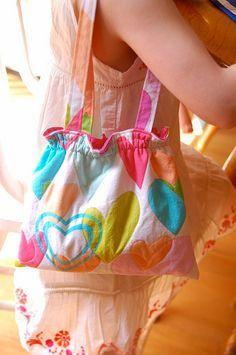 Cute little girl purse tutorial :: tutorial bolsito para niñas