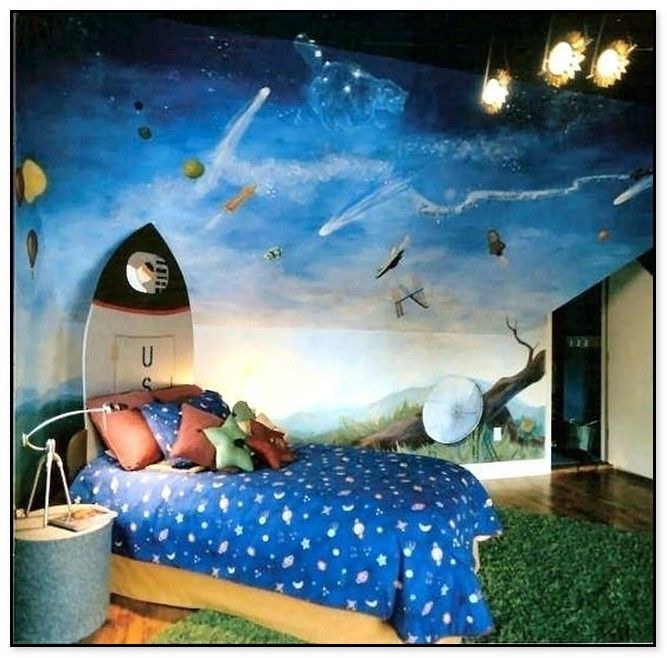 Stunning Outer Space Themed Bedroom Ideas Boys Space Themed Bedroom
