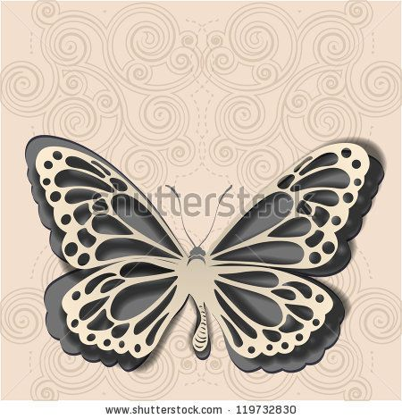79 best images about paper work on pinterest for Butterfly paper cut out template