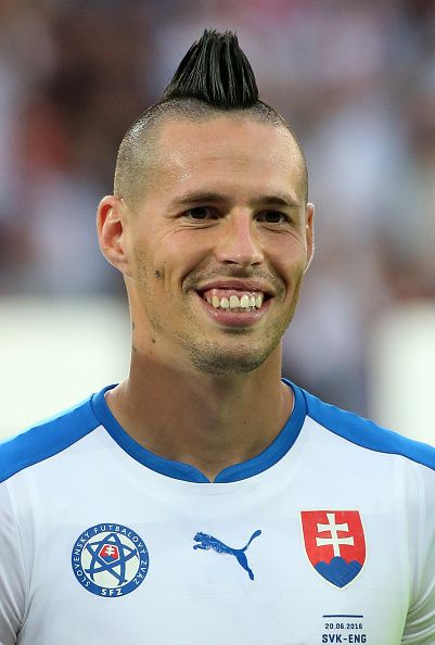 #EURO2016 Marek Hamsik of Slovakia looks on before the UEFA EURO 2016 Group B match between Slovakia and England at Stade GeoffroyGuichard on June 20 2016 in...