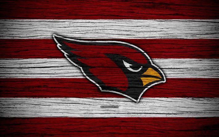 Herunterladen hintergrundbild arizona cardinals, nfl, 4k, holz-textur, american football, logo, emblem, arizona, usa, der national football league, amerikanische konferenz