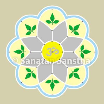 Some rangolis that attract and emit Shivatattva - Shiva