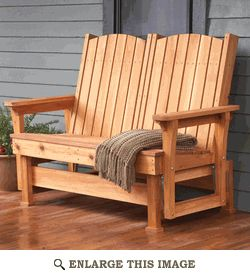 Patio Glider Woodworking Plan, Outdoor Furniture Project Plan | WOOD Store