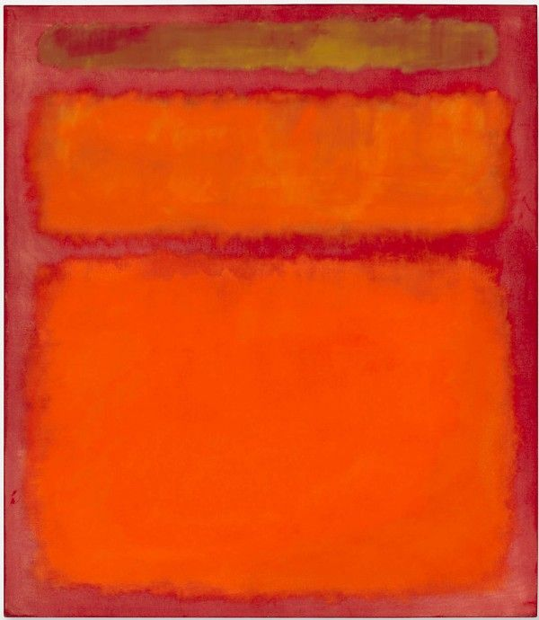 Orange, Red, Yellow by Mark Rothko.