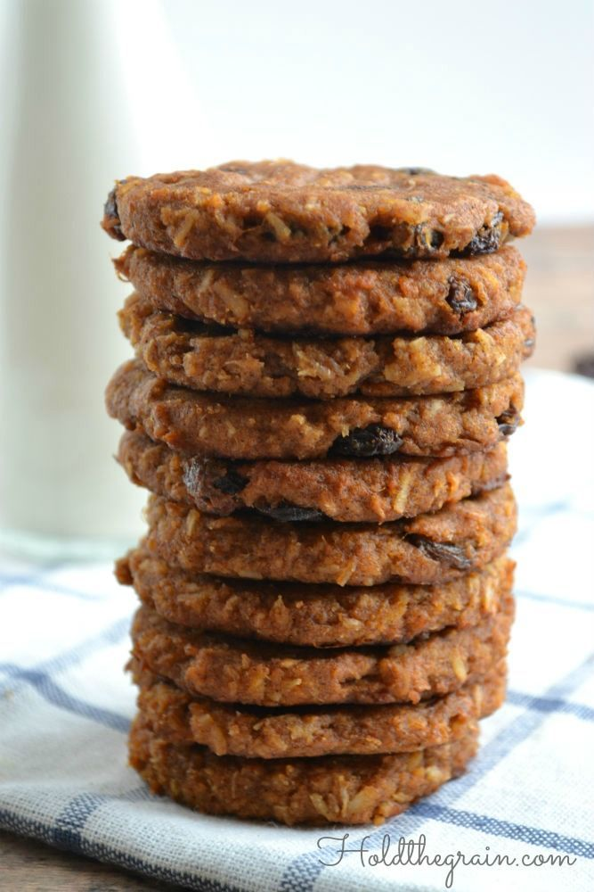 Sweet Potato N'Oatmeal Raisin Breakfast Cookies (you can also substitute shredded carrots for the coconut)