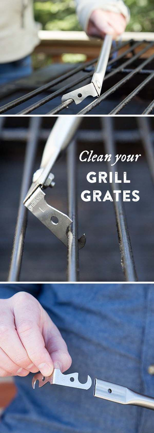 Wondering how to clean your grill?  This tool scrapes grill grates from all angles—even the particularly black underside.