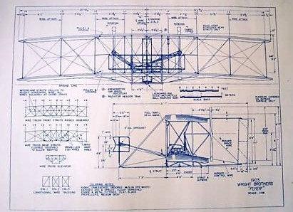 1903 Wright Flyer Blueprint Cnc Art Pinterest Flyers