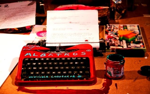 """''Revolution Revelation"""" Vintage Typewriter."""