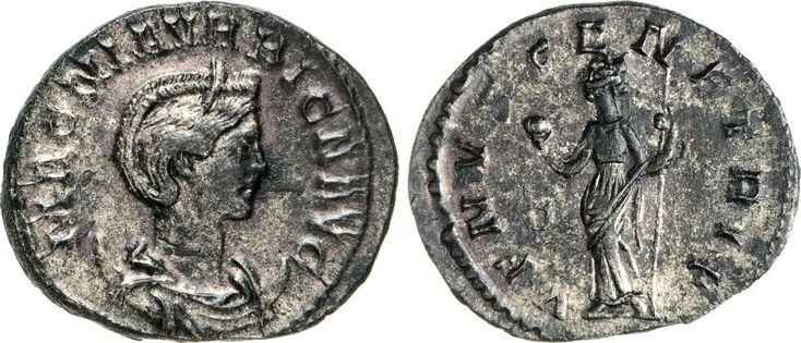 NumisBids: Numismatica Varesi s.a.s. Auction 65, Lot 267 : MAGNA URBICA (moglie di Carino) Antoniniano. D/ Busto diademato e...