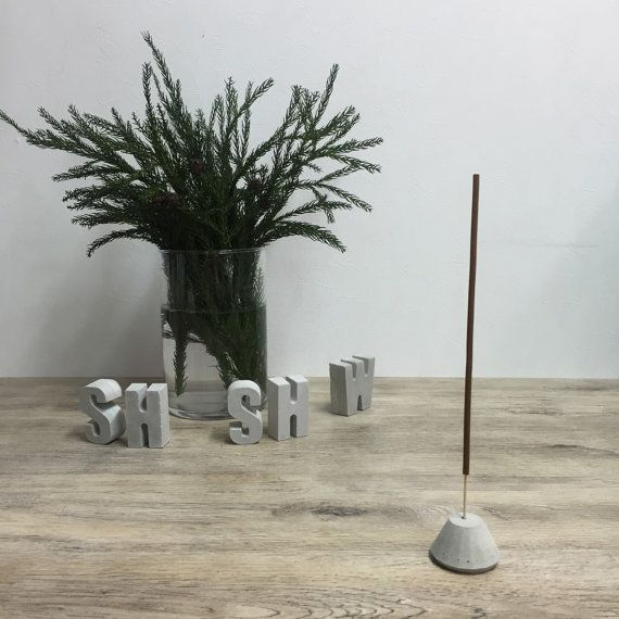 Incense stick holder in Concrete Original by ShabibiSheepWorkshop