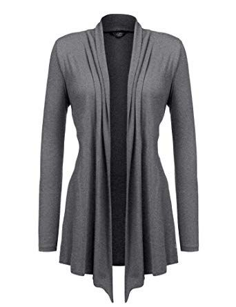 ca0a2a571f0 Chic Beyove Women s Long Sleeve Open Front Plus Size Lightweight Drape Soft Cardigan  Sweater online.