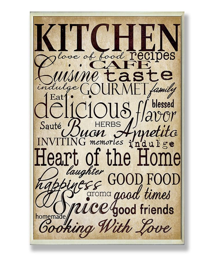$20/Another great find on #zulily! Off White Words in the Kitchen Wall Art by Stupell Industries #zulilyfinds