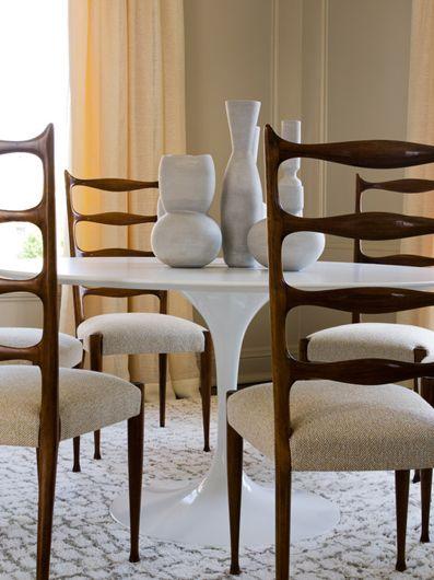 Saarinen Table with Midcentury Chairs
