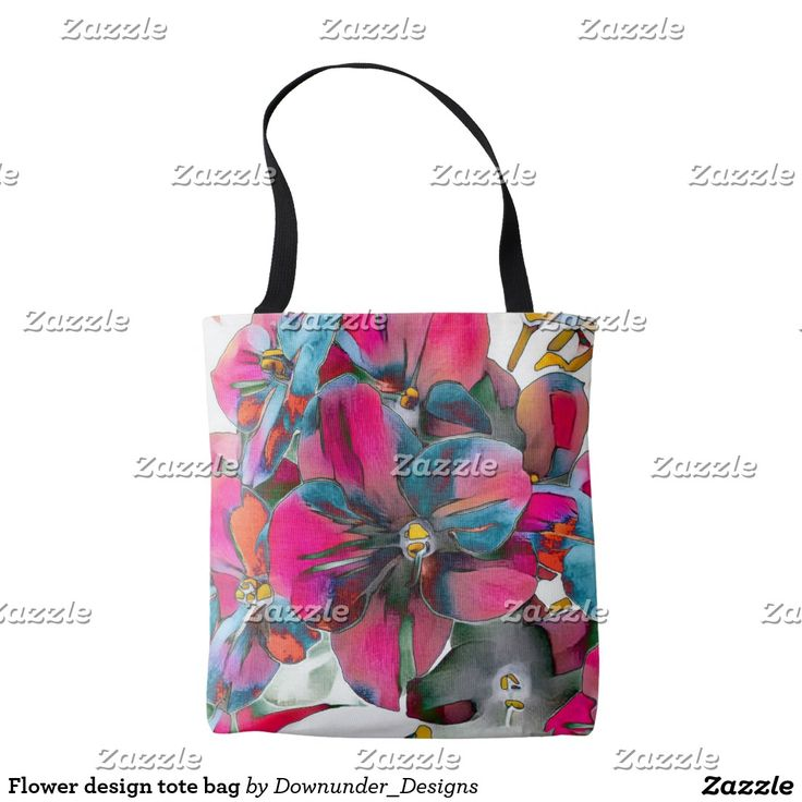 Flower design tote bag