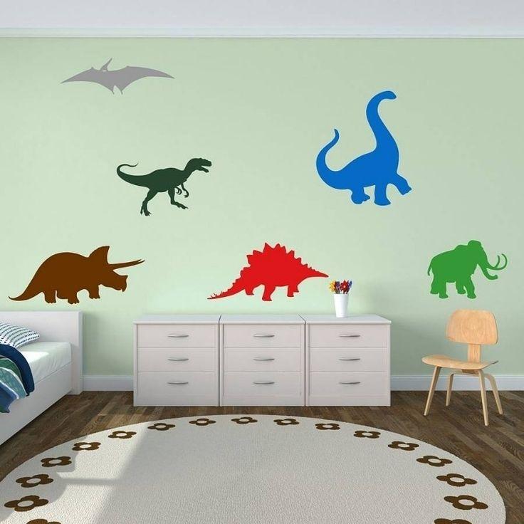 Elegant Wandfarbe Mintgr n kinderzimmer wandgestaltung dinosaurier kommode teppich rund