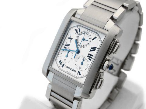 Cartier Chronoflex Tank Francaise - A gents stainless steel Cartier Tank Francaise Chronoflex Chronograph wristwatch.
