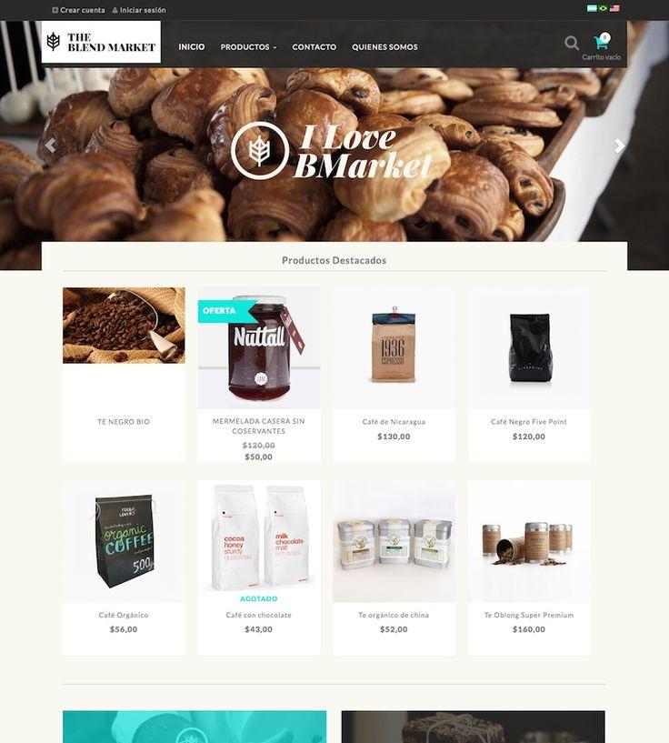 Plantilla Gourmet orientado a  al rubro gastronómico. Encontrala en nuestra Tienda de Diseño e instala en tu #TiendaNube