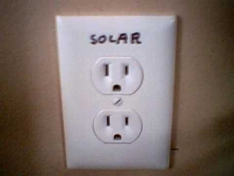 My Cheapie Solar System - how to add solar panel to your house and use it as regular 110v house power on the cheap!
