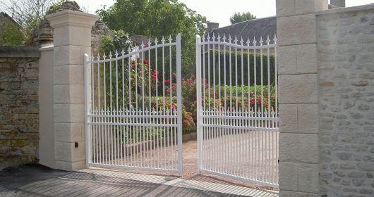 Portail Aluminium Ajouré Barreaux - GMH
