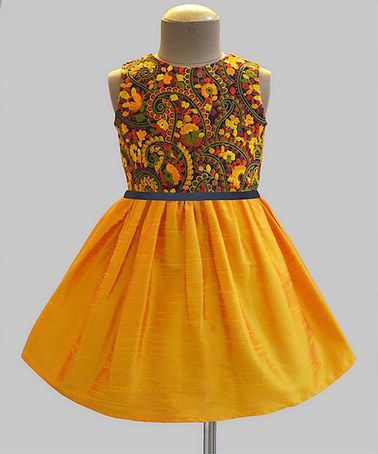 Look what I found on #zulily! Amber Paisley Garden Embroidered Dress - Infant, Toddler & Girls #zulilyfinds