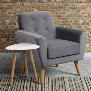 Mid Century Armchair   i love retro   Inspired by mid-century design and chic Scandinavian living, this sofa is where 1950s retro meets contemporary minimalism.  Button backed and complete with tapered solid oak legs. Available in Green or Smoke.  Perfect for your living room, conservatory or bedroom.