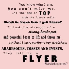 For my amazing athlete/cheerleader.