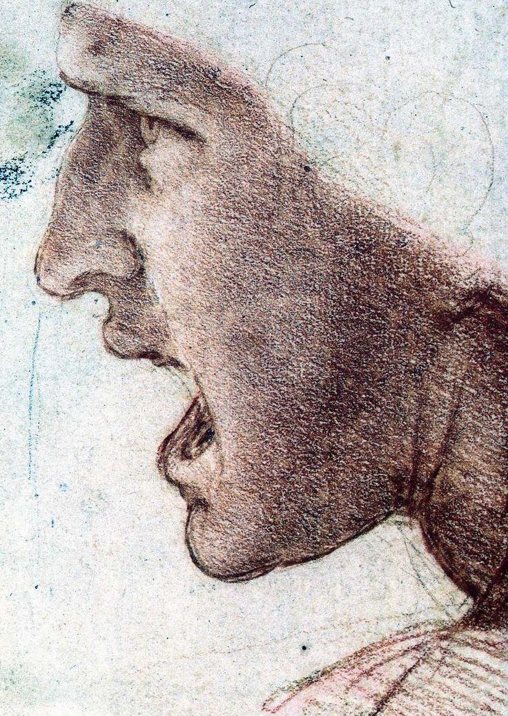 Leonardo da Vinci study of a warrior's head  (Study of a Warrior's Head for the Battle of Anghiari)