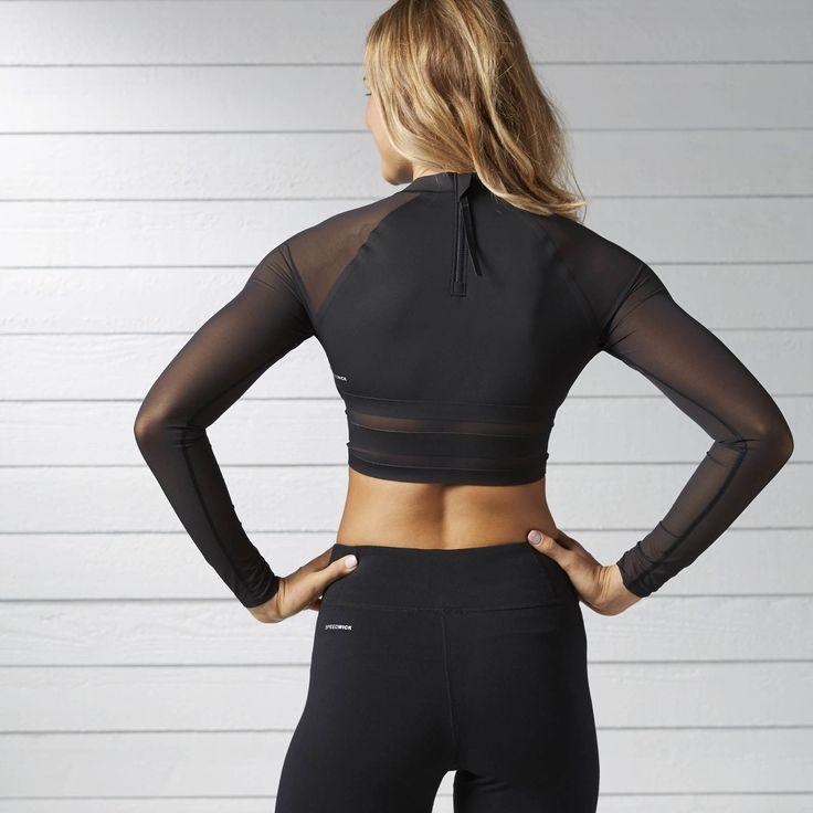 Reebok - Cardio Long Sleeve Crop Top