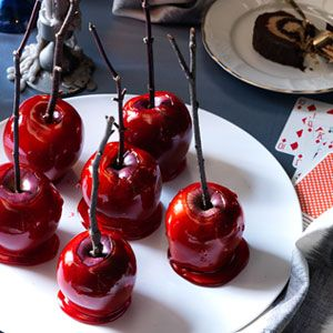 Candy Apples...my grandmother used to make them just like this. There was nothing better!
