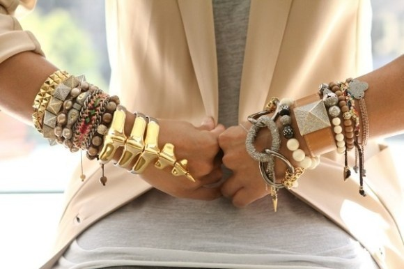 Stack Attack! Awesome Stacked Bracelets And Rings To Drool Over | lovelyish: Arm Candy, Style, Gold Bracelets, Armparti, Stacking Bracelets, Armcandi, Bangles, Cuffs, Arm Parties