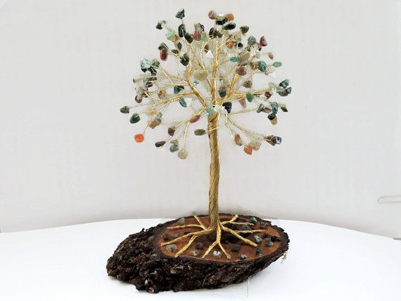 Check out this item in my Etsy shop https://www.etsy.com/listing/273302842/large-indian-agate-wire-tree-of-life