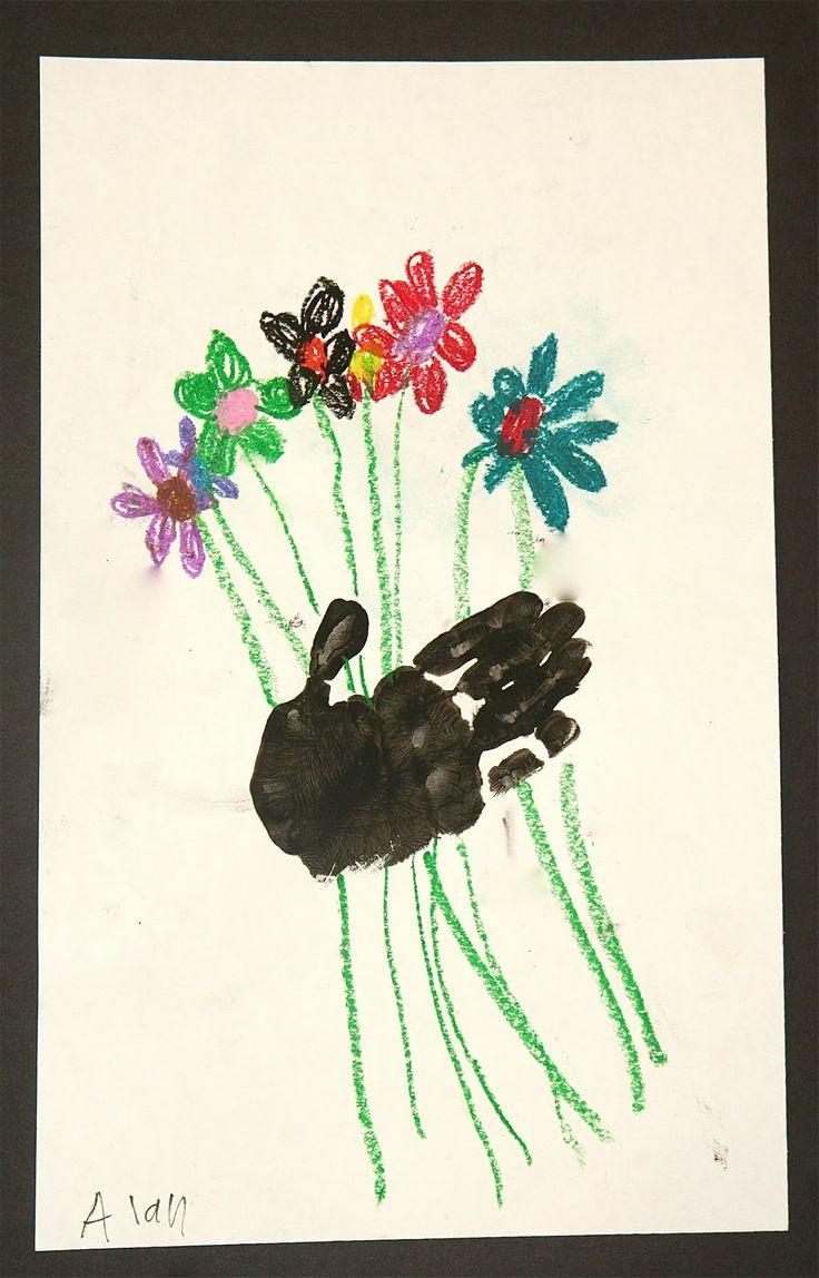 Splish Splash Splatter: Picasso's Hands with Flowers