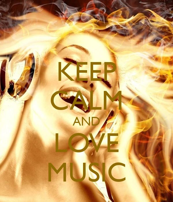 'KEEP CALM AND LOVE MUSIC' Poster