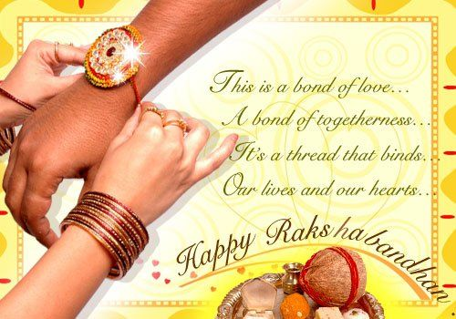 Raksha Bandhan; Hindu Religious Observance; August 21; Hindu festival honoring the loving ties between brothers and sister in a family.